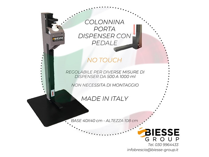 COLONNINA PORTA DISPENSER GEL